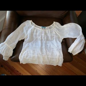 Johnny Was peasant blouse size med
